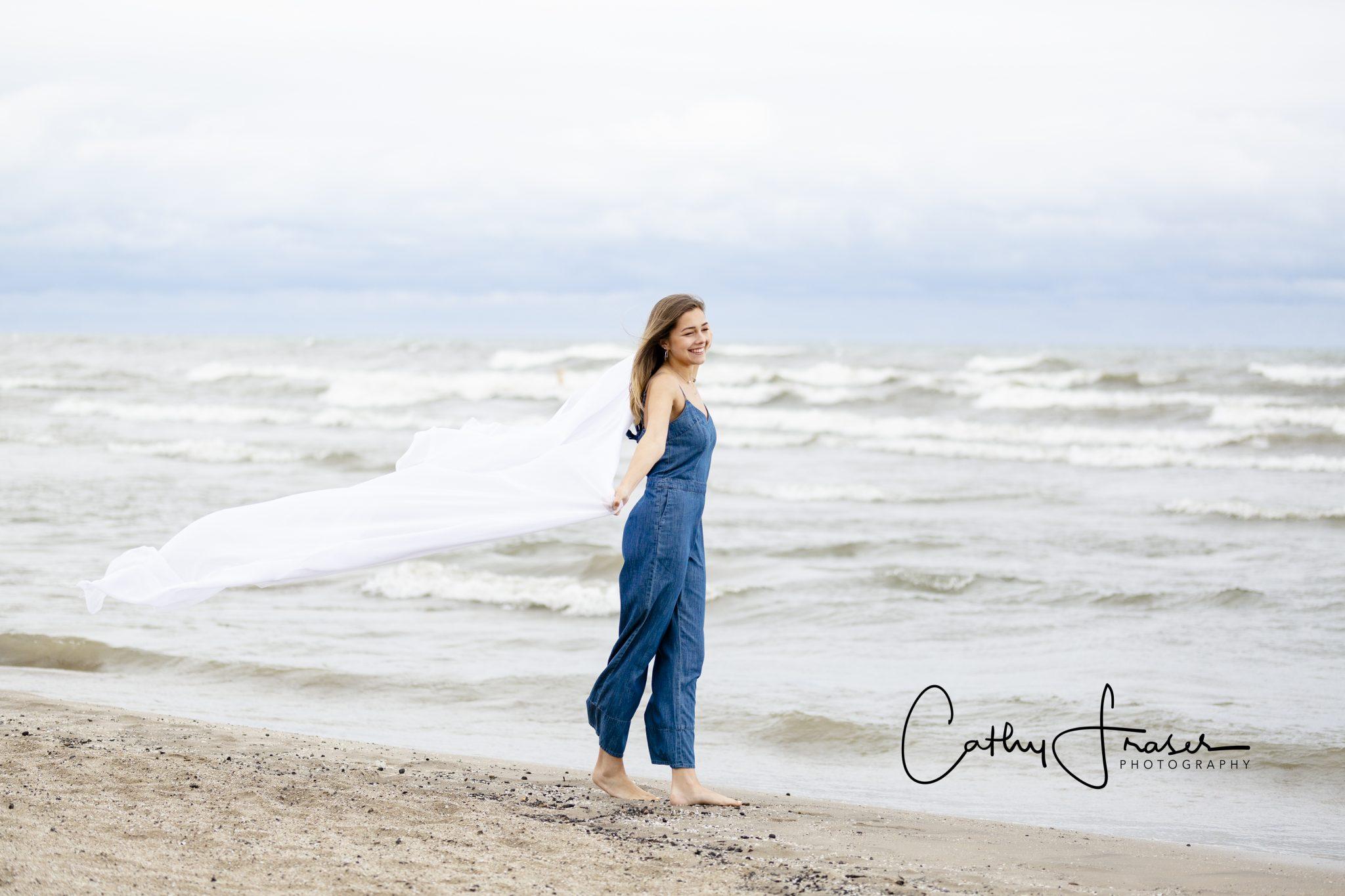 Rochester, New York, Charlotte Beach, Ontario Beach State Park, Charlotte Pier, Great Lakes, blue demin