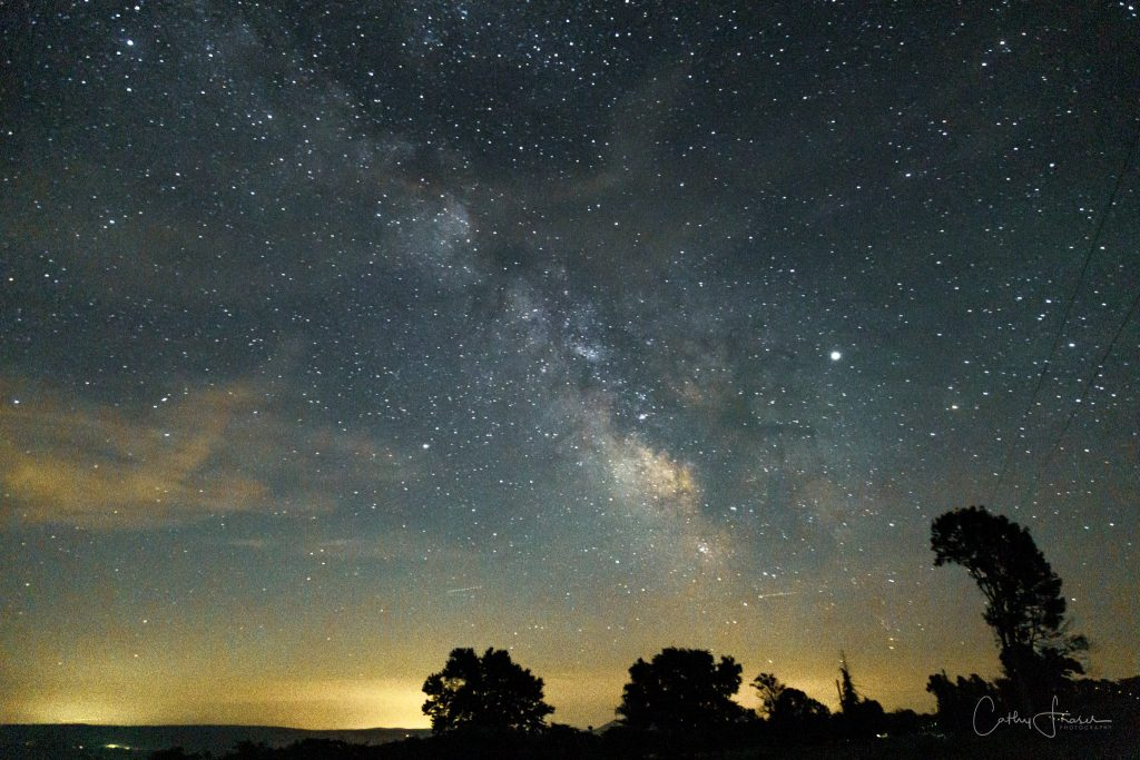 landscape photography of milky way in the evening in new york