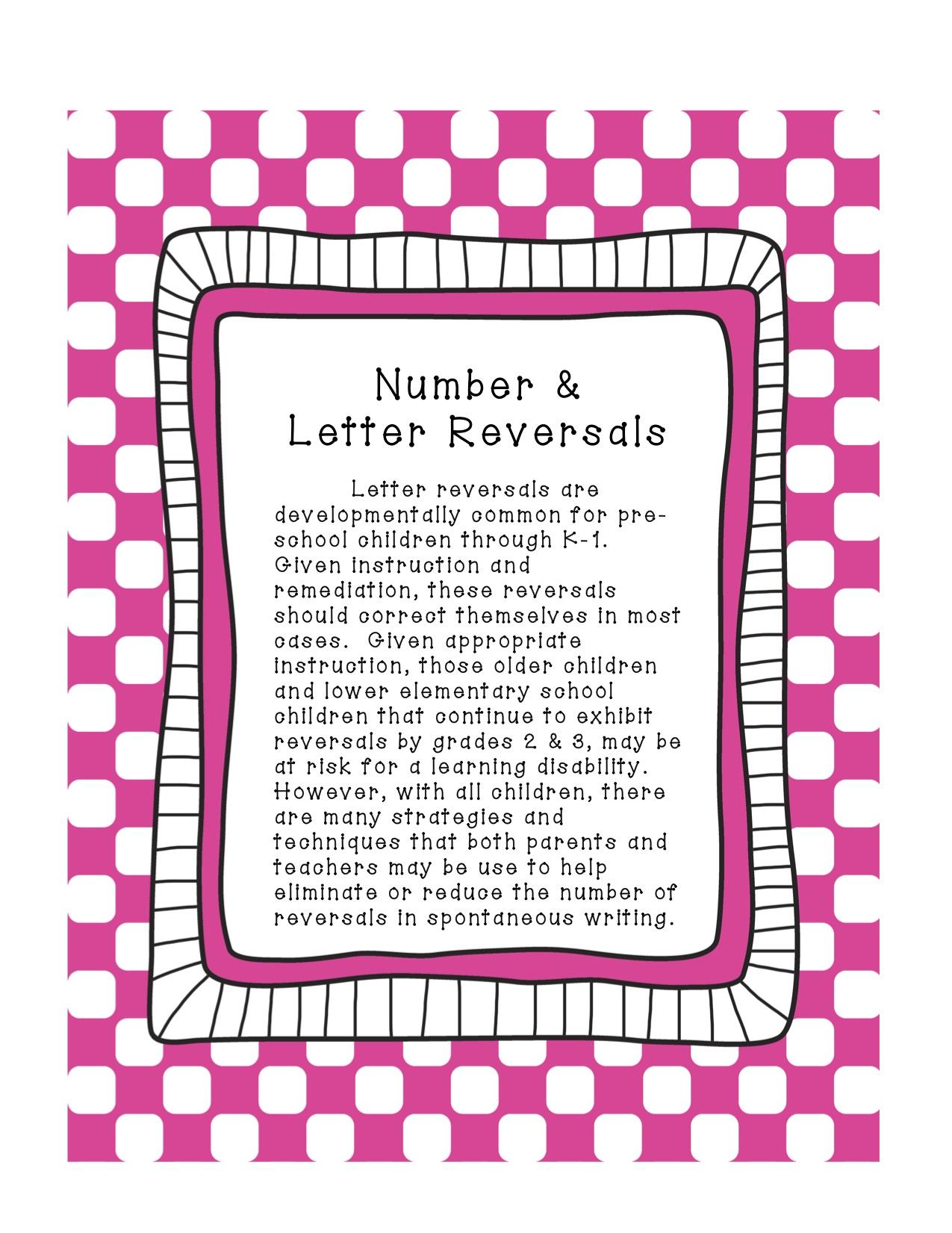 Number Amp Letter Reversals