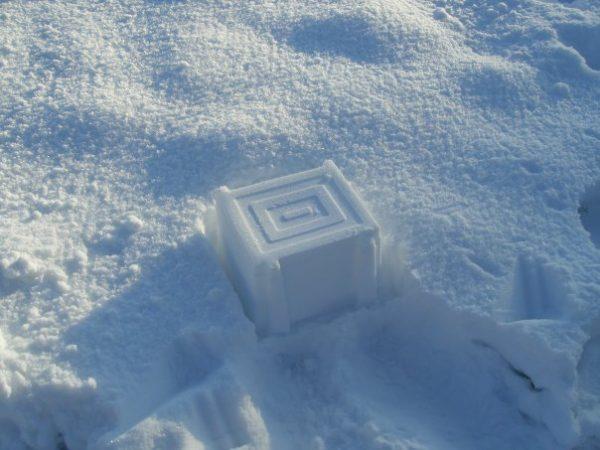 ©2010 - Cathy Read - Zen snowman - digital image