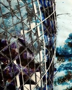 ©2012 - Cathy Read - Gherkin up close- Mixed Media- 50x40cm