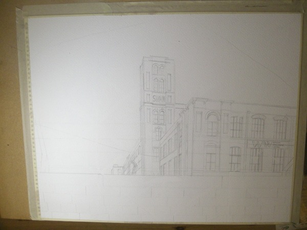 ©2012 - Cathy Read - Work in Progress - Mixed media - 40 x 50 cm