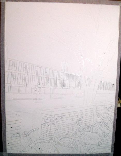 ©2013 - Cathy Read - Work in Progress- Pencil - 75 x 55 cm