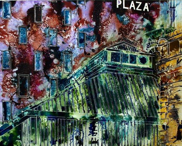 ©2012-Cathy-Read-Hot-Tin-View-Mixed-Media-40x50cm - £450 framed