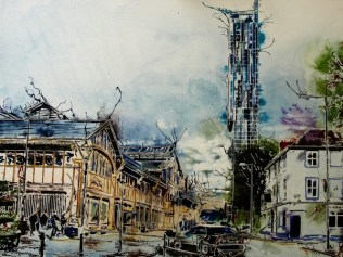 ©2016 - Cathy Read - Manchester ScienceMuseum - Watercolour and acrylic ink