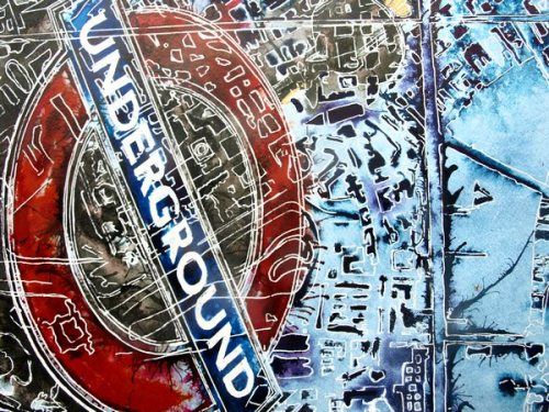 ©2016-Cathy-Read-London-Maps-2-Watercolour-and-Acrylic- London Underground sign art
