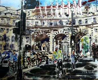 ©2016-Cathy Read-Admiralty Arch- Watercolour and Acrylic-40x50cm