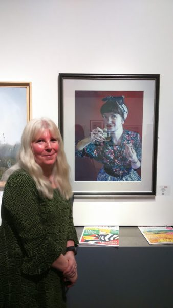 ©2017 - Cathy Read - Sarah Pope with her painting at Artist of the Year 2017- digital image