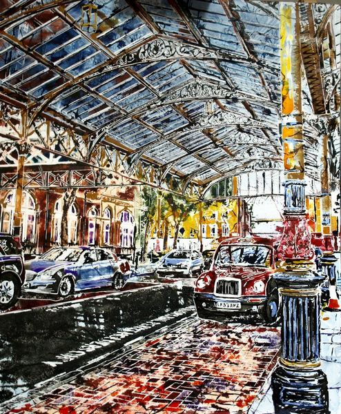 2017 - Cathy Read - Painting of Marylebone Station - Watercolour and Acrylic - 51 x 61cm