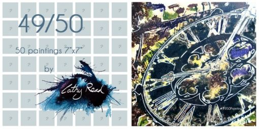 poster image logo #4950Paintings Challenge clock image