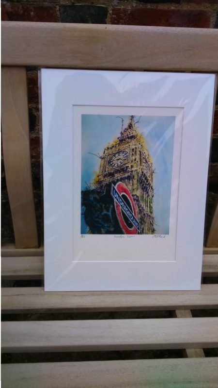 London Icons by Cathy Read Print presentation image