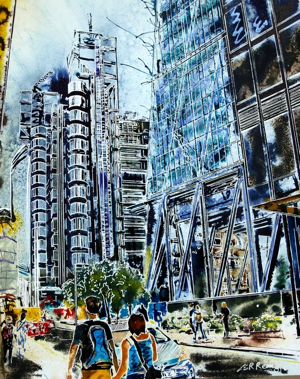 May - The Cheesegrater Couples©2018-Cathy-Read- 50 x 40cm - £577