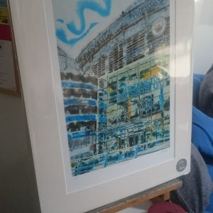 ©2018 - Cathy Read - Manchester Blue - A3 print front