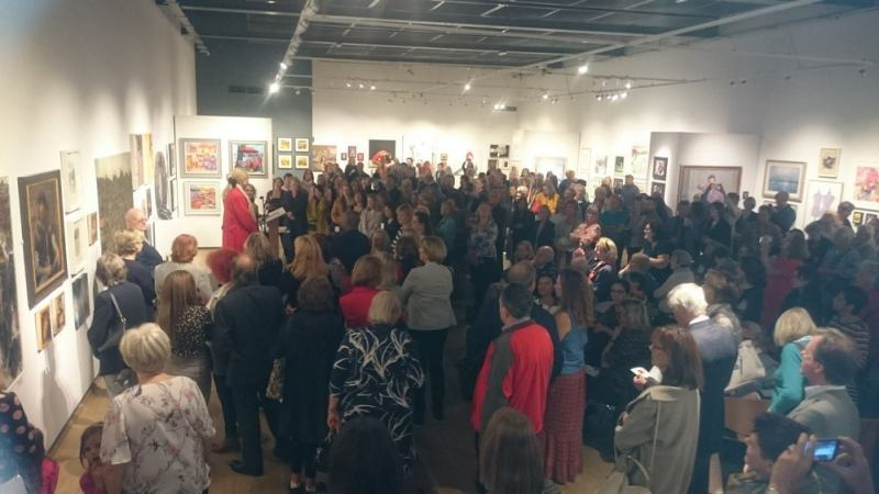 Speeches at Society or Women Artists 2019 at Mall Galleries - ©2018 - Cathy Read  Princess Michael of Kent speaking