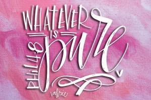 Whatever is Pure  from ValerieWienersArt.com