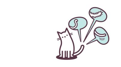 Cat's tail illustration