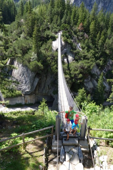 Swingbridge at Gelmerbahn