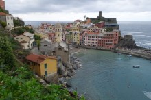 Vernazza on approach from Monterosso