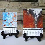 Abstract Rust Calendar