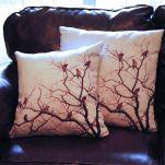 Cedar Waxwing Pillow Set