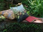 Outdoor Pillows on Bench
