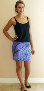Nature Themed Pencil Skirt