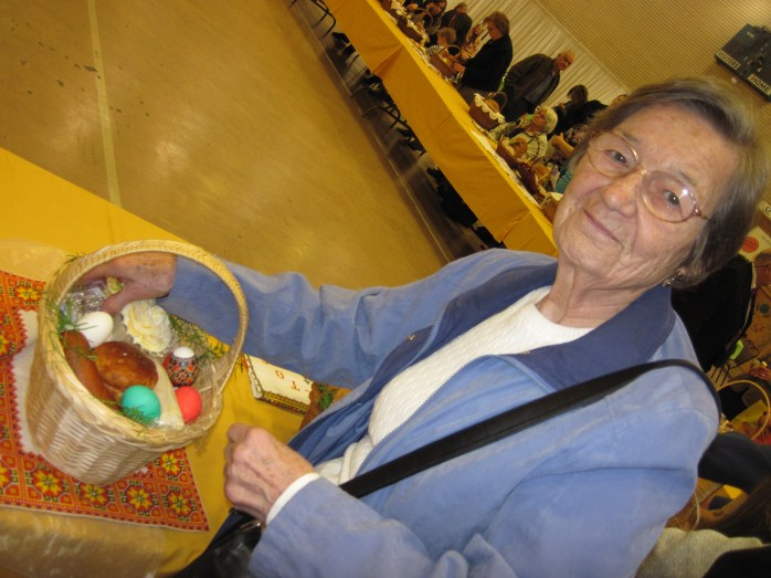 Baba with her basket in 2010.