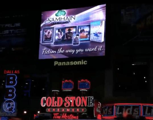 Samhain Times Square Ad