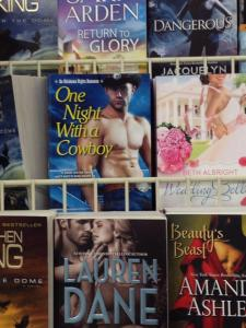 Fans from Canada to Georgia and everywhere in between have emailed pics of the the mass market paperback of One Night with a Cowboy shelved in Walmart, Sam's Club & BN.