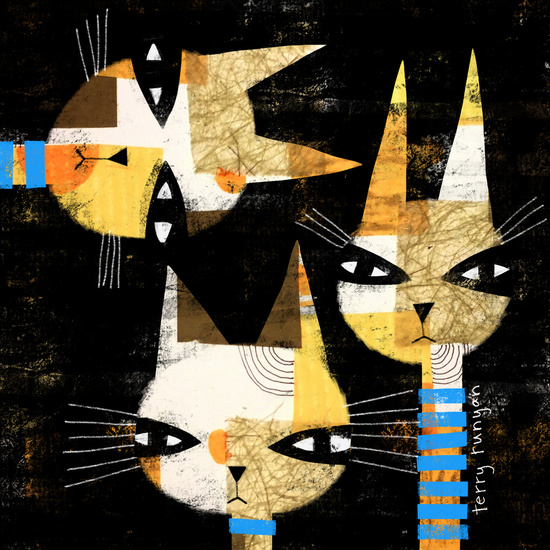 Cat art by Terry Runyan