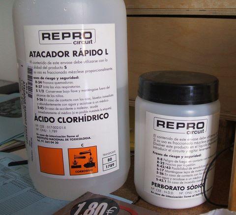 Hydrochoric Acid & Sodium Perborate
