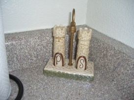 I cannot have a castle of my own, or even visit one on command, but my Salt and Pepper do!