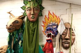 """Forest Goddess II with friends"" Play: The Serpent's Egg, Paperhand Puppet Theater"