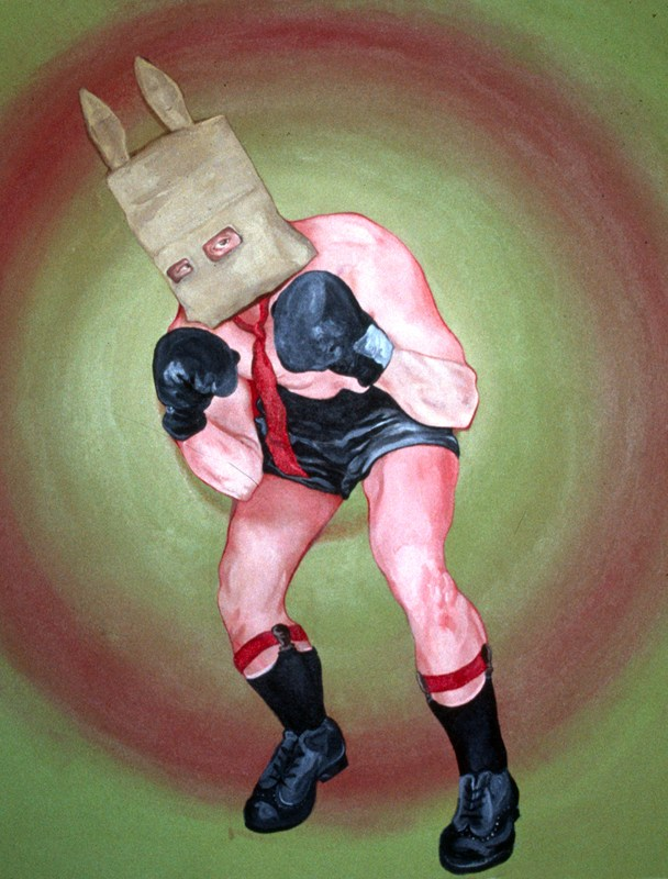"""The Republican Candidate,"" 2003, 30″ x 30″, Acrylic on canvas."