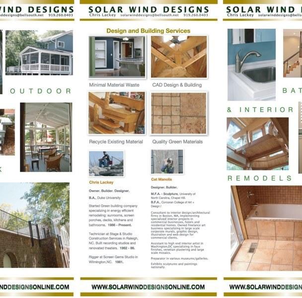 Tri-Fold Brochure- Green Remodeller