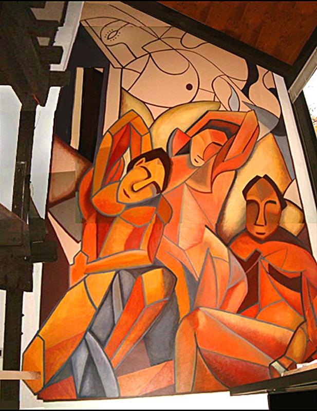 Cubist Mural