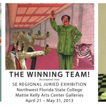 THE WINNING TEAM!!  3 PAINTINGS just accepted to SE REGIONAL JURIED EXHIBITION!