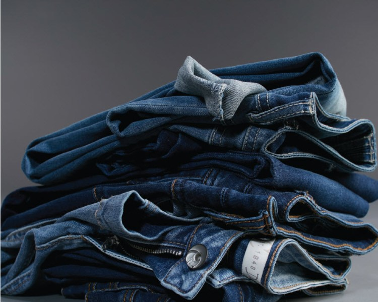 A Stack of Cato denim.