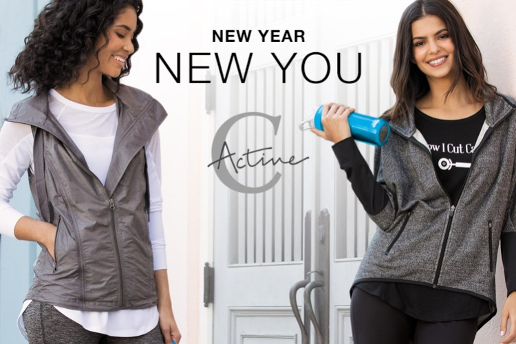 New Year New You. Introducing Cato Active. Two young women in Cato Active wear.