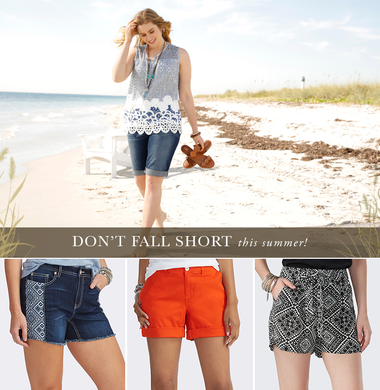 Don't Fall Short this summer! A variety of shorts that are available at Cato