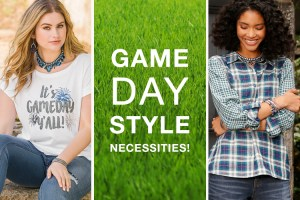 Game Day Style Necessities! Two women looking ready for Football