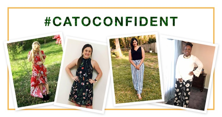 #CatoConfident with 4 images of beautiful women wearing Cato Fashions.