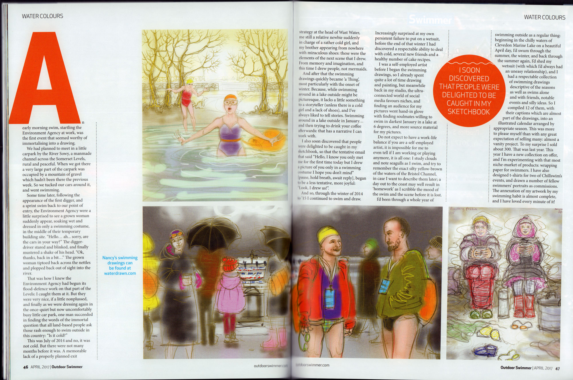 'Water Colours' – an article for Outdoor Swimmer Magazine