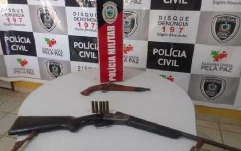 depois de perseguicao policia militar apreende duas armas de fogo em mato grosso pb