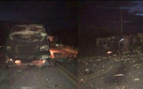 criminosos bloqueiam estrada para assaltar dois carros fortes proximo a caico video