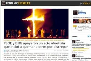 España: Promotores del aborto apoyados por el PSOE alientan a quemar Conferencia Episcopal