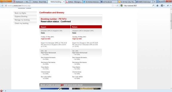 Tiket kabur ke singapore bersama tim koplak, hasil dari hunting promo kursi gratis Air Asia.