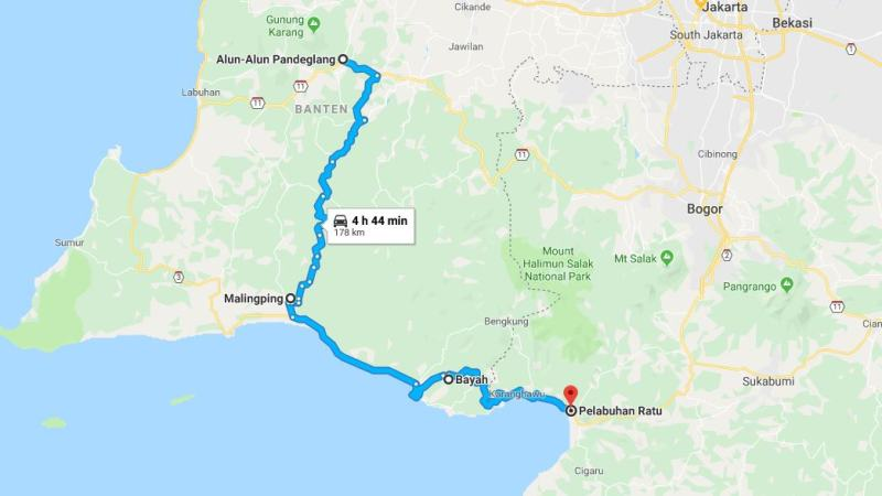 Day 21 - 28 Maret 2019 : Padeglang - Pelabuhan Ratu (via Malimping, Bayah)