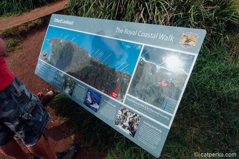 Ada peta rute Royal National Park Coastal Walk untuk panduan trekking.