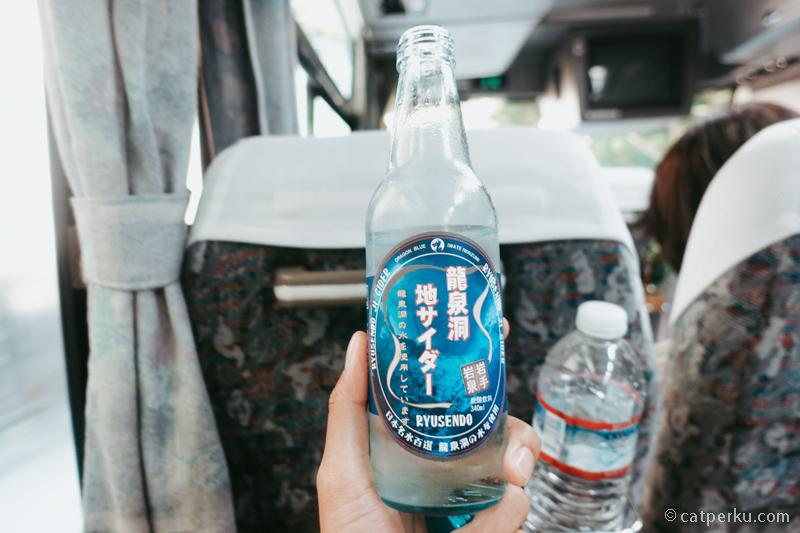 Air soda ini segar banget, dibuat menggunakan mata air dari Gua Ryusendo